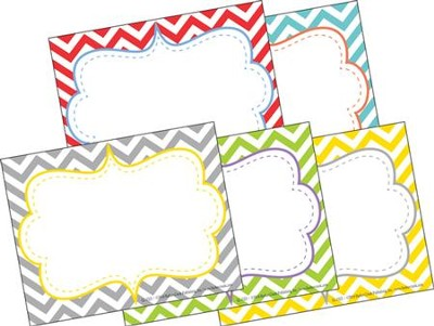 Chevron Beautiful Name Tags (Pack of 45)   -