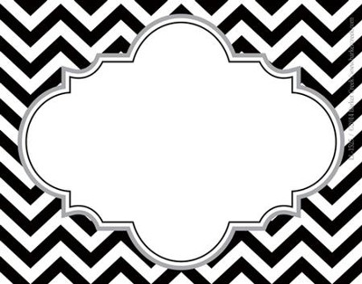 Black Tie Affair Chevron Name Tags (Pack of 45)   -
