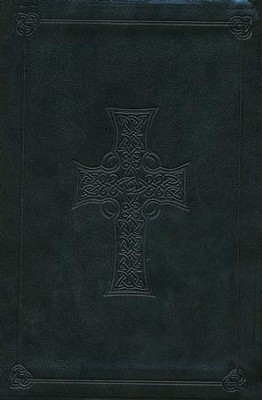 ESV Compact Outreach Bible, Premium Edition, Celtic Cross Design, Imitation Leather, Dark Olive Green  -