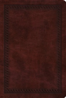 ESV Value Compact Bible (TruTone, Mahogany, Border Design), Leather, imitation, Burgundy/Maroon  -