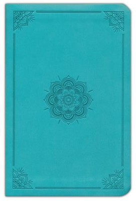 ESV Value Compact Bible (TruTone, Turquoise, Emblem Design), Leather, imitation, Green  -