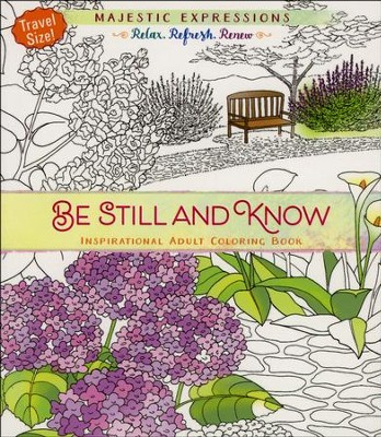 be still and know travel size coloring book - Travel Coloring Book