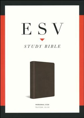ESV Study Bible, Personal Size, Imitation Leather,  Dark Olive Green  -