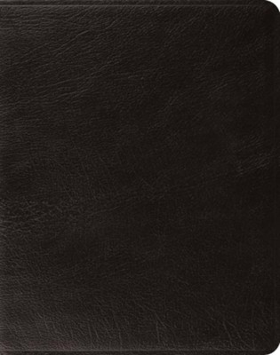ESV Single-Column Journaling Bible--genuine leather, black   -