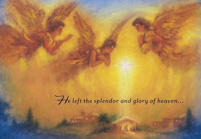 He Left the Splendor and Glory Of Heaven Cards, Box of 18  -
