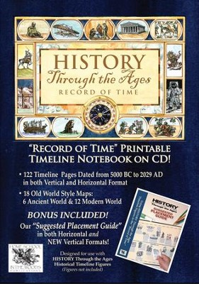 History Through the Ages Record of Time & Suggested  Placement Guide Combo on CD-ROM  -