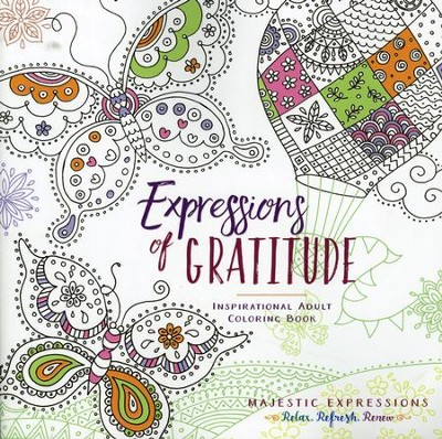 Expressions of Gratitude - Adult Coloring Book   -