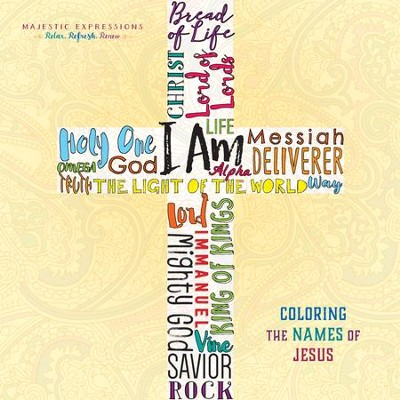 Names of Jesus: Adult Coloring Book  -