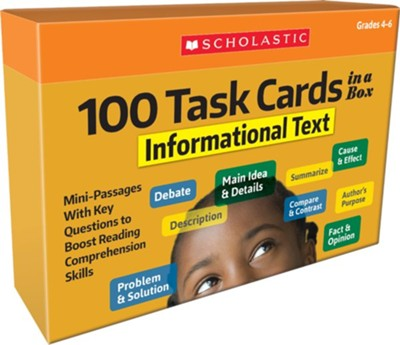100 Task Cards: Informational Text  -
