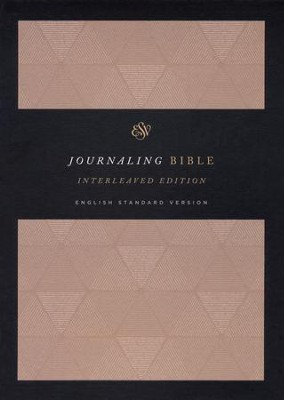 ESV Journaling Bible, Interleaved Edition, Cloth over Board, Tan  -