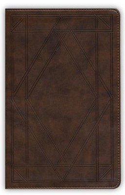 ESV UltraThin Bible (TruTone, Chestnut, Wood Panel Design), Imitation Leather, Brown  -