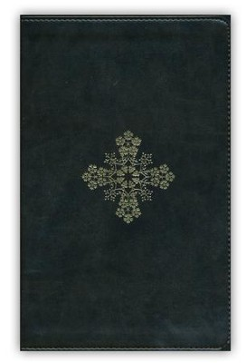 ESV UltraThin Bible (TruTone, Olive, Floral Cross Design), Imitation Leather, Green  -