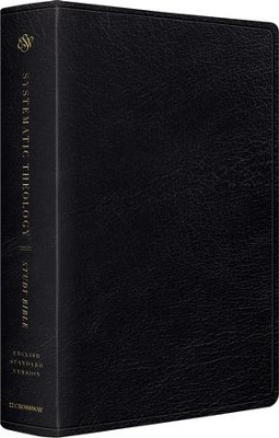 ESV Systematic Theology Study Bible, Black Genuine Leather  -