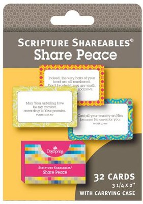 Peace, Shareables Scripture Cards, Package of 32  -