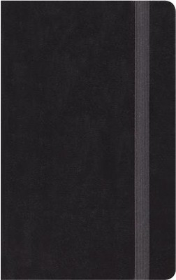 ESV Thinline Bible, Black Hardcover with Strap  -