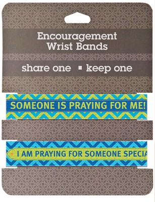 Praying Encouragement Wrist Bands, Package of 2  -