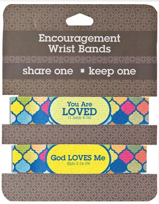 Loved Encouragement Wrist Bands, Package of 2  -