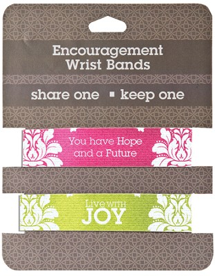Hope & Joy Encouragement Wrist Bands, Package of 2  -