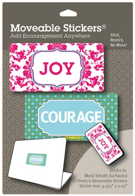 Joy & Courage Moveable Stickers, Pack of 2  -