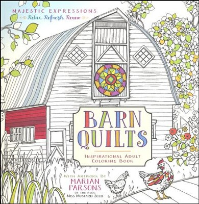 Barn Quilts: Inspirational Adult Coloring Book   -     By: Marian Parsons