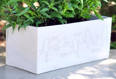Eternal Garden Joy, Trust, Hope, Peace Planter  -