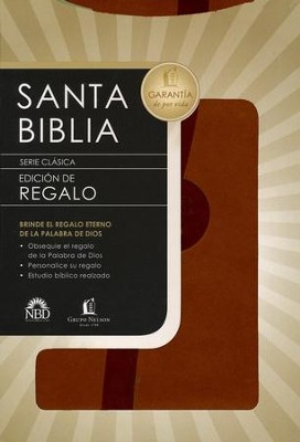 Biblia de Regalo NBd, Piel Italiana Marrón  (NBD Gift Bible, Imitation Leather, Brown)   -