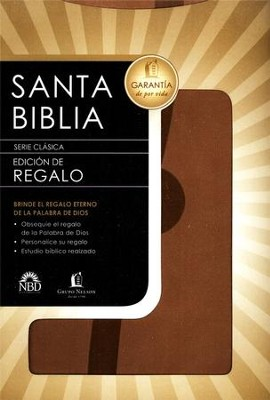 Biblia de Regalo NBD, Piel Italiana Beige  (NBD Gift Bible, Imitation Leather, Beige)   -