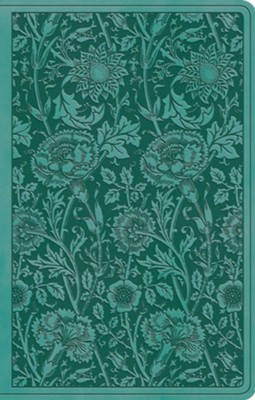 ESV Premium Gift Bible (TruTone, Teal, Floral Design) Imitation Leather  -
