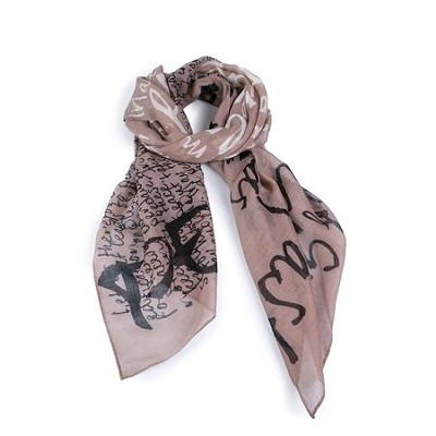 Peace, Taupe Scarf (Romans 15:13)  -