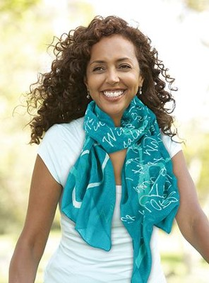Joy, Teal Scarf (Psalm 28:7 & Zephaniah 3:17)  -