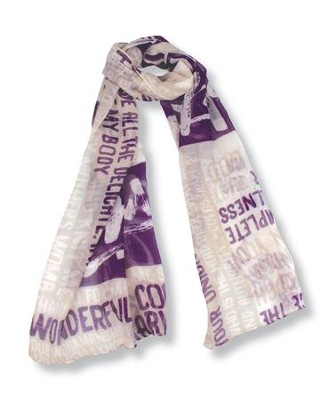 Complete Pattern, Various Scriptures Scarf   -