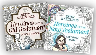 Heroines of the Bible Coloring Books, 2-Pack  -