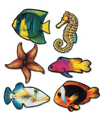 Fish Cutouts, pack of 6   -