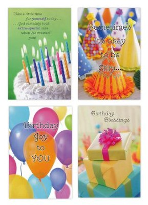 Birthday, Blessed & Bright Cards, Box of 12  -