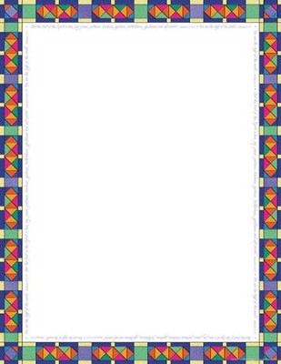 Stained Glass Computer & Writing Paper (50 Sheets)   -