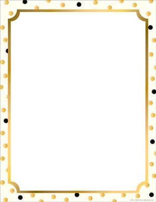 Gold Computer & Writing Paper (50 Sheets)   -