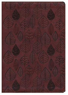 ESV Single Column Journaling Bible, Large Print, TruTone, Chestnut, Leaves Design  -