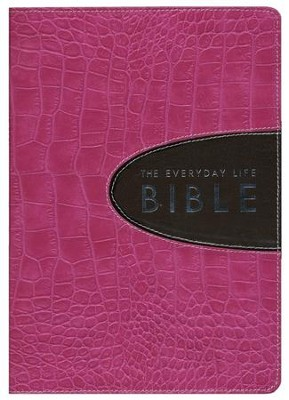 The Everyday Life Bible, Bonded Leather Bold Pink with Espresso Inset  -     By: Joyce Meyer
