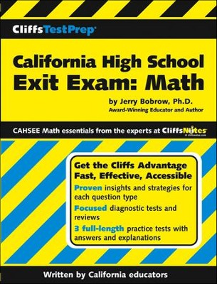CliffsTestPrep California High School Exit Exam-Mathematis  -     By: Jerry Bobrow