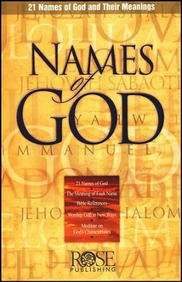 Names of God: 21 Names of God and Their Meanings - eBook Bundle  -