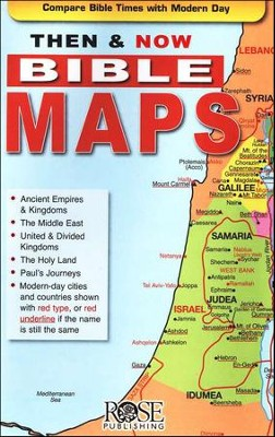 Then And Now Bible Maps Ebook Bundle