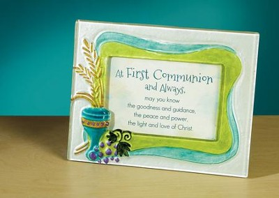 At First Communion and Always Tabletop Plaque  -