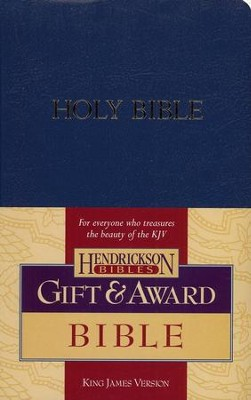 KJV Gift & Award Bible, Imitation leather, Blue , Case of 24  -