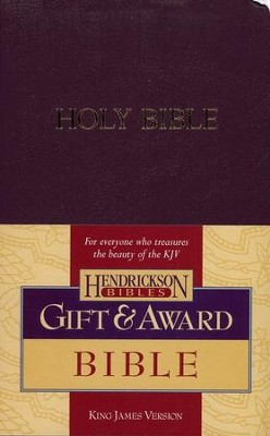 KJV Gift & Award Bible, Imitation leather, Royal purple , Case of 24  -