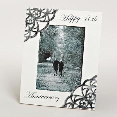 Happy 40th Anniversary Photo Frame  -