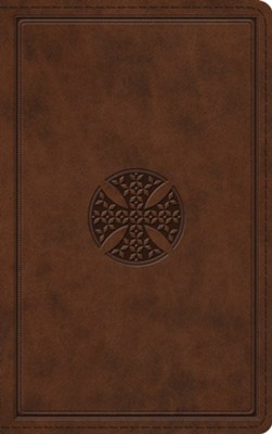 ESV Thinline Bible (TruTone Imitation Leather, Brown with Mosaic Cross Design)  -
