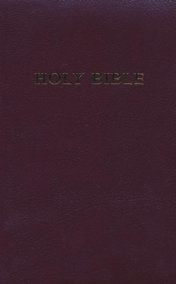 KJV Personal-Size Giant-Print Reference Bible--imitation  leather, burgundy   -