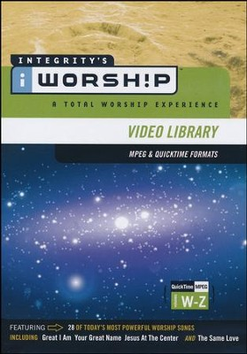 iWorship Resource MPEG Library Resource System DVD W-Z   -