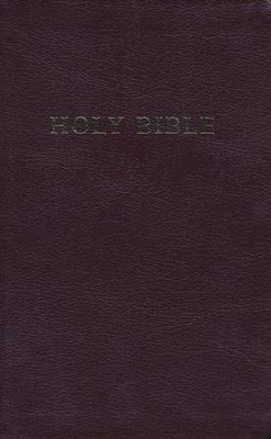 KJV Personal Size Giant Print Reference Bible, bonded leather, burgundy  -