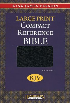 KJV Compact Large Print Reference Bible, Bonded Leather, Black   -